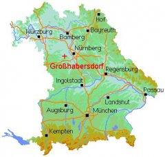 Landkreis Würzburg Karte.Gemeinde Großhabersdorf Im Landkreis Fürth Topografie Und Lage